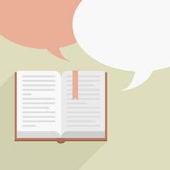 book speech bubbles