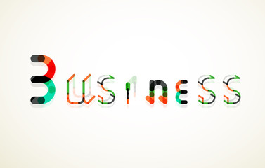 Business word keyword font