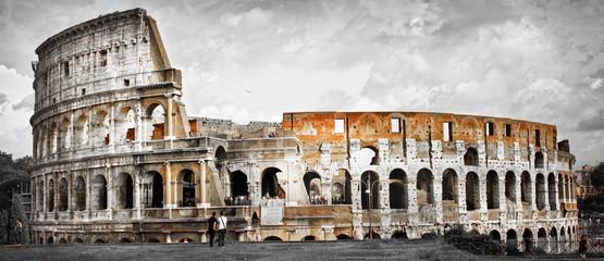 Poster de jardin Rome Great Rome, panorama of Colosseum