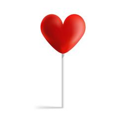 Design heart lollipop