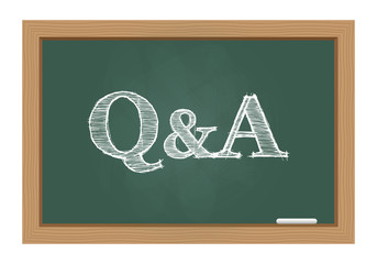 Questions and answers on chalkboard