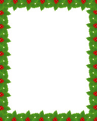 Christmas frame with holly border