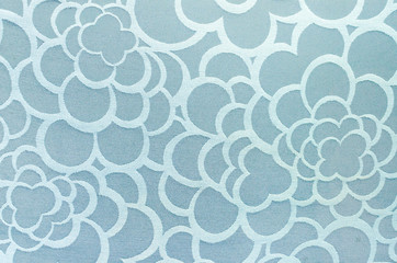 Abstract blue circle fabric texture and background