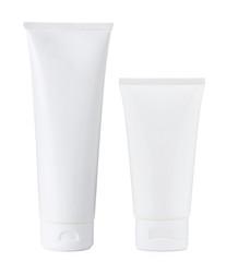 Blank white plastic cosmetics paste or gel tube