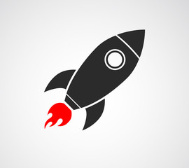 rocket ship space icon