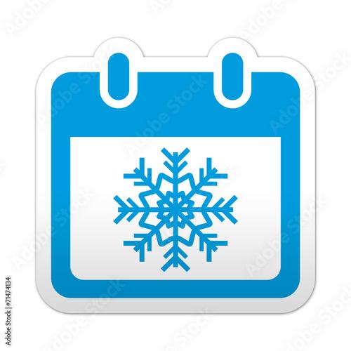 Simbolo De Calendario.Pictograma Calendario Con Simbolo Invierno Con Varios