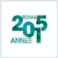 Bonne année 2015 vert