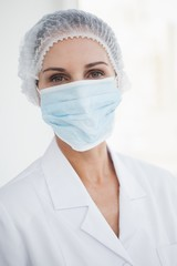 Doctor wearing a surgical mask