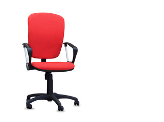 The red office chair. Isolated