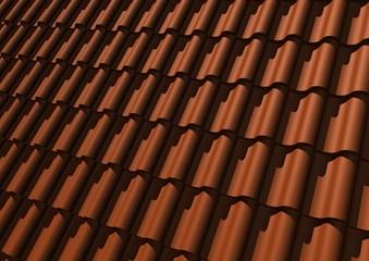 Oranje pannen dak