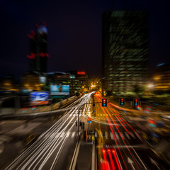 Tuinposter Milan Milan city night light