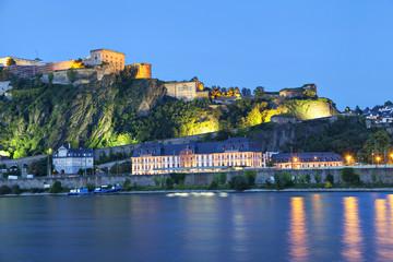 Fortress Ehrenbreitstein in Koblenz Fototapete