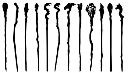 magic staff silhouettes