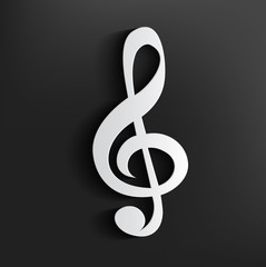 Song symbol on dark background,clean vector