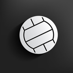 Volleyball symbol on dark background,clean vector