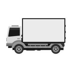 Delivery Truck with Blank Mobile Billboard. Vector