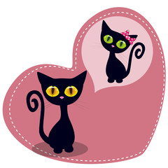 Dreaming Black kitten