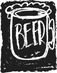 doodle mug of beer