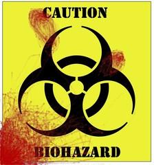 blood splattered biohazard