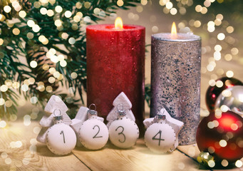 Weihnachtskarte Advent