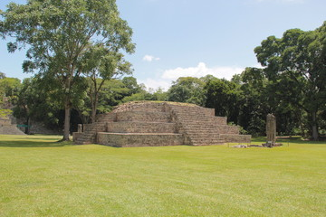Copan, Honduras: Pyramid at the ancient Mayan archaelogical site