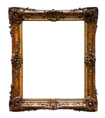 picture  frame. Isolated on white