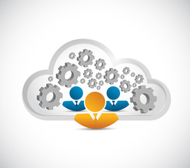 business people. cloud computing illustration