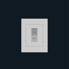 Light Switch on off tumbler in flat design style.