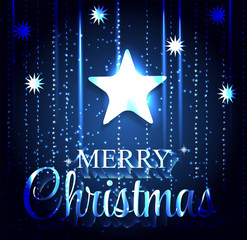 Christmas Glossy Star Background. Vector Illustration.