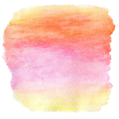 Watercolor Wet Background. Purple Pink Yellow Orange Wet Waterco