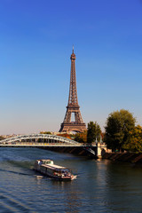 View on Eiffel Tower in the day, Paris, France