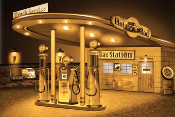nostalgische Tankstelle, american Style