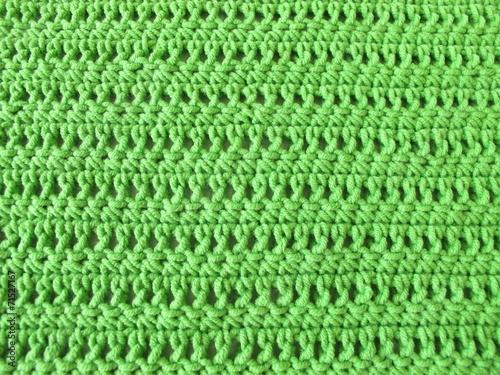 Häkelmuster aus festen Maschen und Stäbchen in Hellgrün\