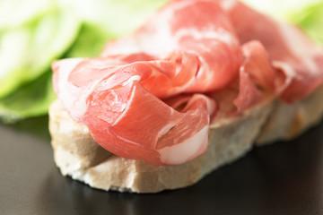 Ham Sandwich on plate horizontal