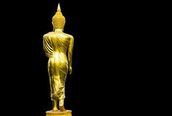 Buddha Image Art on Solid Black Background