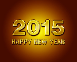 Happy New Year 2015 glass poster