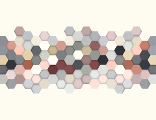 Abstract Honeycomb Hexagon Background, Vintage Colors, Vector
