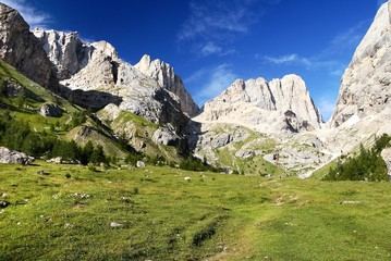 southern side of marmolada- top of dolomiti italy