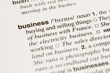 Definition word business in dictionary