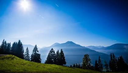 Aluminium Prints Berglandschaft bei Brixen im Thale, Tirol