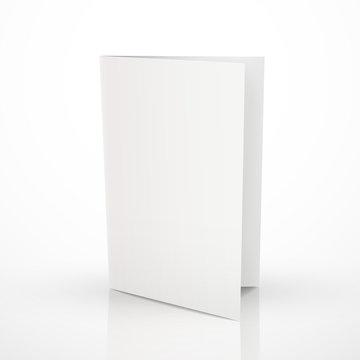 blank folder brochure design