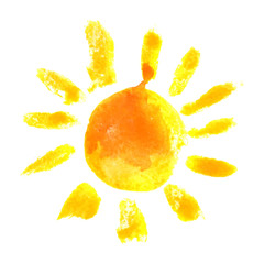 watercolor sun icon