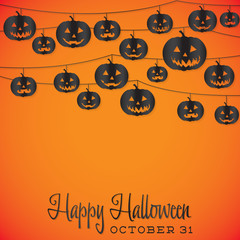 Bright Halloween string card in vector format.