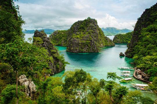 landscape of Coron, Palawa, Philippines