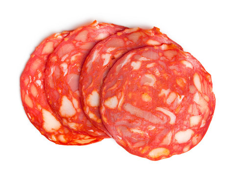 sliced chorizo salami
