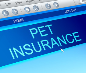 Pet insurance concept.
