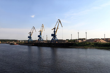 View of cargo port