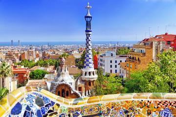 Foto op Canvas Barcelona BARCELONA, SPAIN - SEPT 02,2014 :Gorgeous and amazing Park Guel