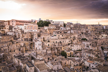 view of Matera, Balsilicata, Italy