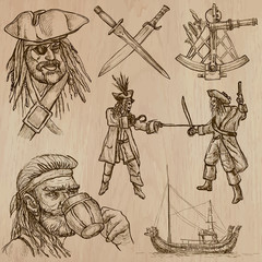 pirates (no.6) - an hand drawn vector pack